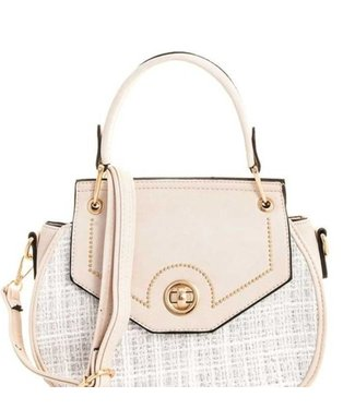 Two Tone Stylish Round Satchel