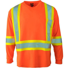 Pioneer 6981 Cotton Safety Long Sleeved Orange