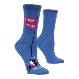 Blue Q Ladies I Have To Pee Again Crew Socks