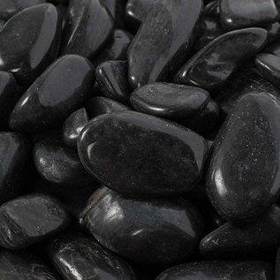 "Pebbles, Black Polished - 1"" to 2"""