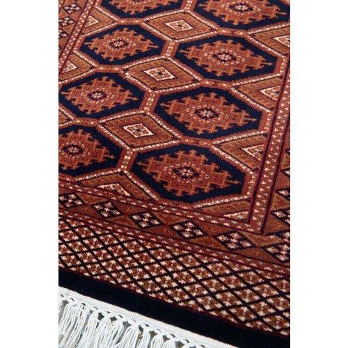 2 ½' x 4' Indian Handmade Navy Blue Cashmere Rug