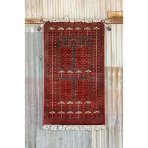 Indian Handmade Red Cashmere Rug