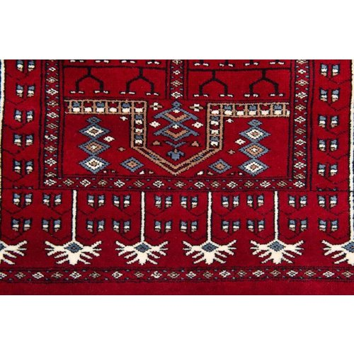 2 ½' x 4' Indian Handmade Red Palm Trees Cashmere Rug
