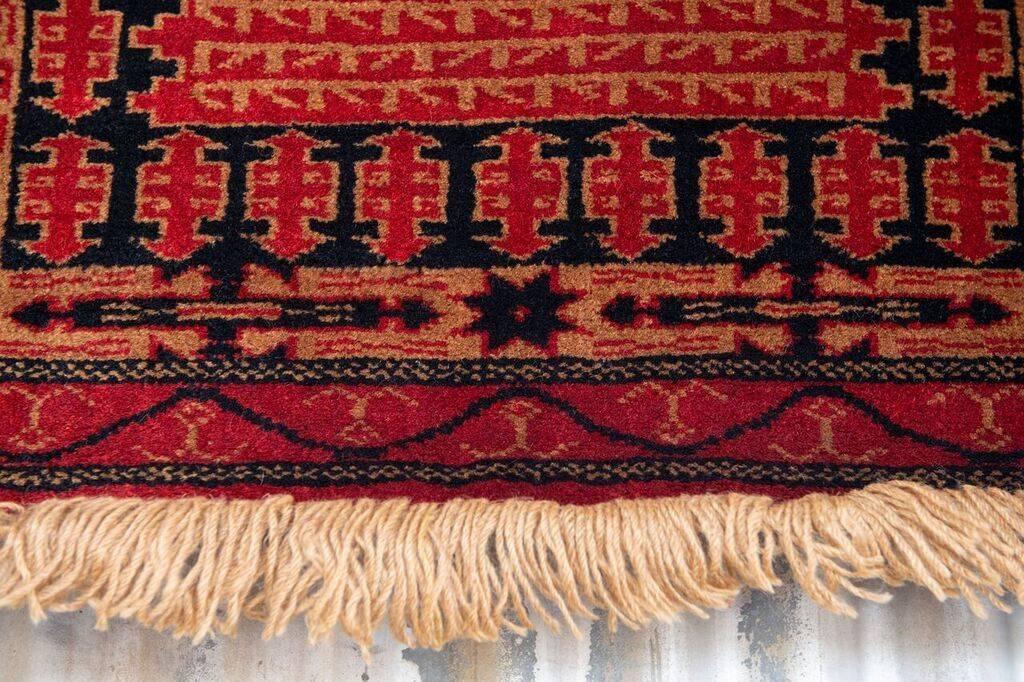 2 ½' x 4' Indian Handmade Red Tribal Pashmina Rug