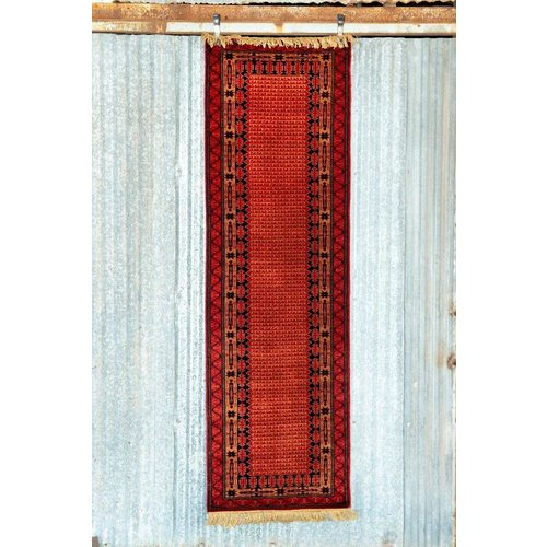 2 ½' x 8' Indian Handmade Red Runner Pashmina Rug