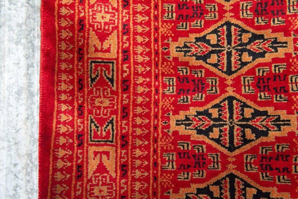 2 ½' x 8' Indian Handmade Red Tribal Pashmina Rug