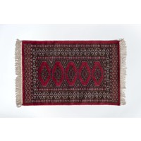 2' x 3' Indian Handmade Indian Red Cashmere Rug