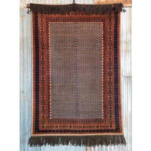 5' x 7' Indian Handmade Navy Blue Pashmina Rug