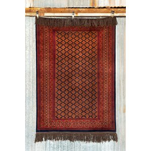 5' x 7' Indian Handmade Red Tribal Pashmina Rug