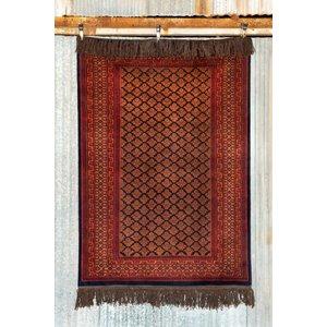 5' x 7' Indian Handmade Red Tribal Pashmina Rug