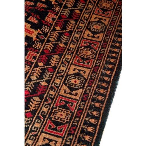 5' x 7' Indian Handmade Red/Black Pashmina Rug
