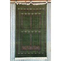 6' x 4' Indian Handmade Green Cashmere Rug
