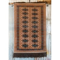6' x 4' Indian Handmade Tan/Light Blue Pashmina Rug