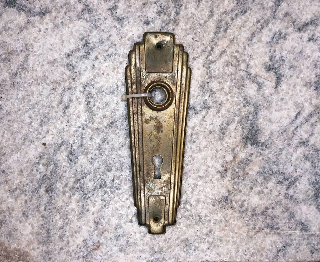 Art Deco Door Plate Wide