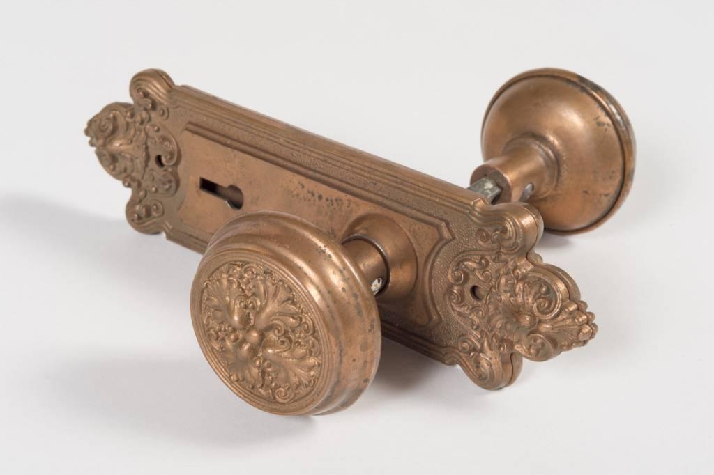 Art Nouveau Door Knob and Escutcheons Set