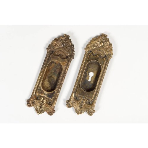 Art Nouveau Pocket Door Escutcheons