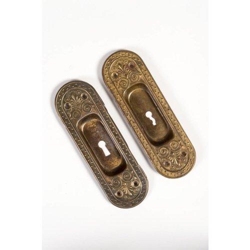 Art Nouveau Pocket Door Escutcheons - Pair