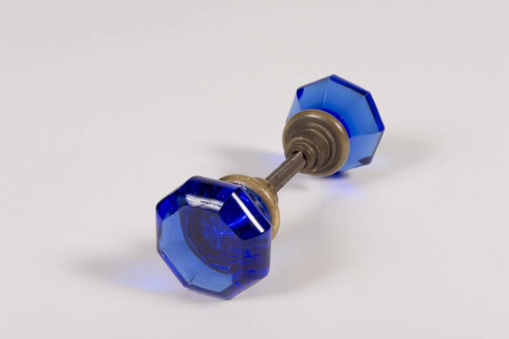 Cobalt Blue Door Knobs Set
