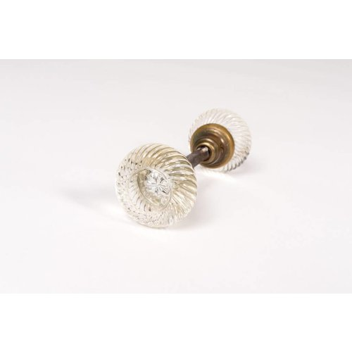 Glass Swirl Door Knobs - Pair
