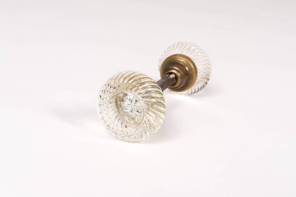 Glass Swirl Door Knobs - Pair
