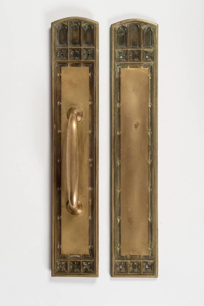 Gothic Revival Door Pull / Push Plate Set
