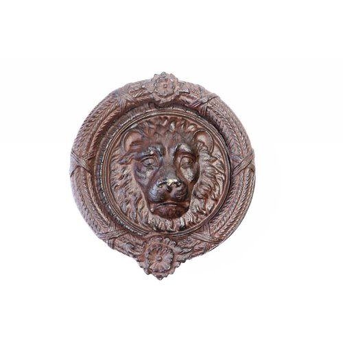 Lion Door Knocker - Large Round