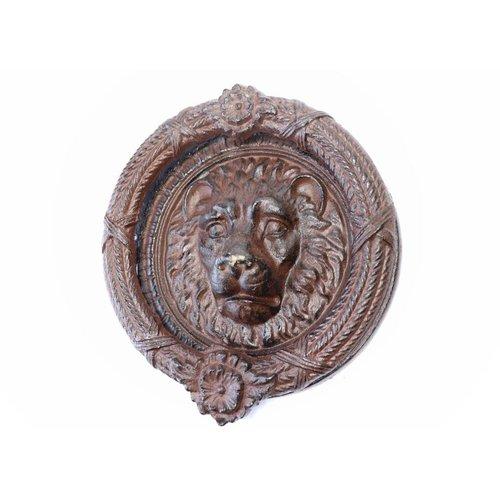 Lion Door Knocker - Large Round