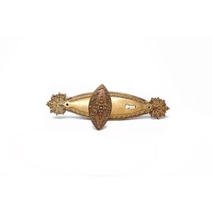 Marquise Revival Brass Door Knobs with Escutcheosn