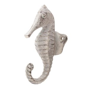 White Seahorse Wall Hook from India