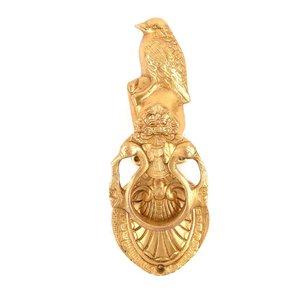 Brass Standing Bird Door Knocker from India