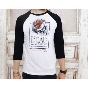 Dead People's Stuff Baseball Jersey White/Black