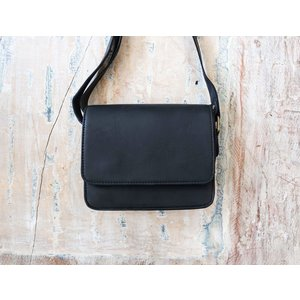 Marshé Lil Black Leather Bag