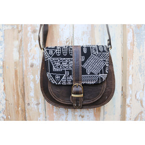 Fabric Leather Bag