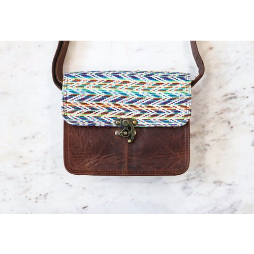 Stay Wild, Leather & Fabric Bag