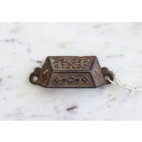 Eastlake Rectangular Pull with Diamond Emblem