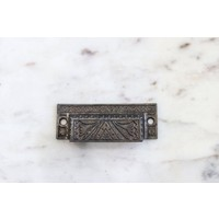 Eastlake Rectangular Pull with Triangle Emblem