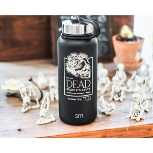 Dead People's Stuff Engraved Design-Black Osage Shield 32oz Thermo