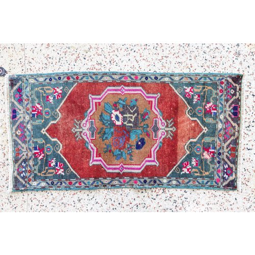 Turkish Handspun Vintage Rug - 22 x 43