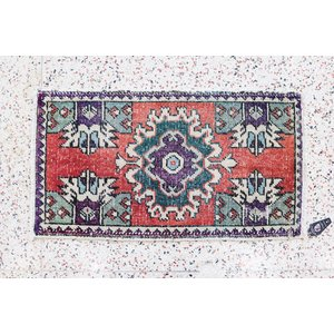 Turkish Handspun Vintage Rug - 19 x 35
