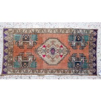 Turkish Handspun Vintage Rug - 20 x 41