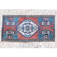 Turkish Handspun Vintage Rug - 19 x 40