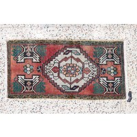 Turkish Handspun Vintage Rug - 19 x 38
