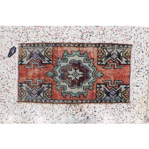 Turkish Handspun Vintage Rug - 17 x 32