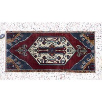 Turkish Handspun Vintage Rug - 17 x 39