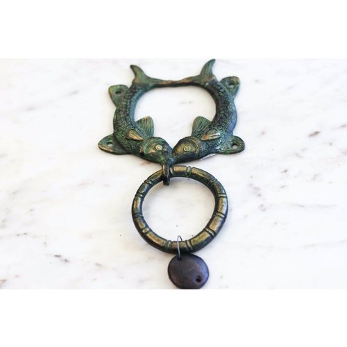 Vintage Brass Pisces Door Knocker