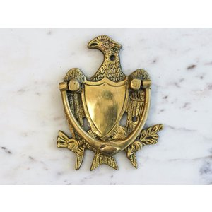 Brass Eagle with Crest Door Knocker