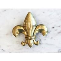 Brass Fleur de Lis Door Knocker from India