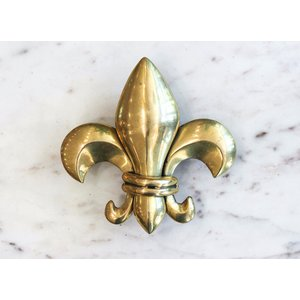 Brass Fleur de Lis Door Knocker from India