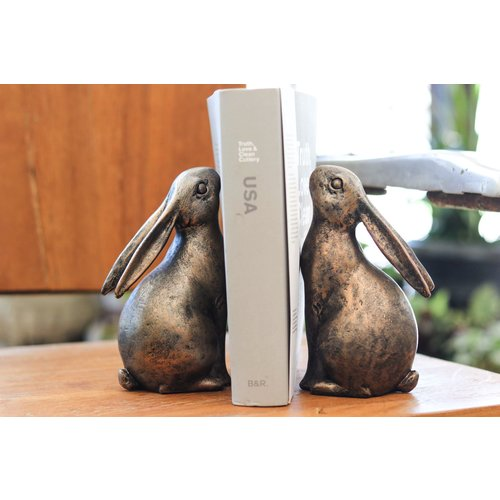 Pair of Resin Bunny Bookends