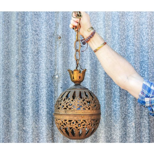 Brass Sphere light (Store pick up only)